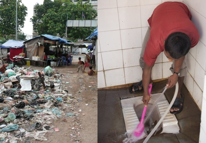 Cambodia - India Two sides of sanitation rubbish and cleanliness. Credit Bill & Melinda Gates Foundation